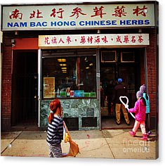 Nam Bac Hong Chinese Herbs, Chinatown, Boston, Massachusetts Acrylic Print