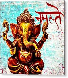 Namaste Bhagavaan Ganesh Acrylic Print