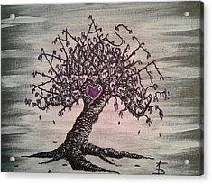 Acrylic Print featuring the drawing Namaste Love Tree by Aaron Bombalicki