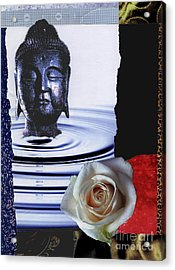Namaste Acrylic Print by Pederbeck Arte Gruppe