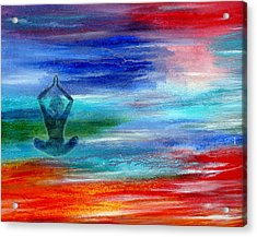 Namaste Acrylic Print by The Art With A Heart By Charlotte Phillips