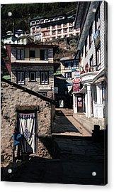 Acrylic Print featuring the photograph Namche Bazaar Hotelier by Owen Weber