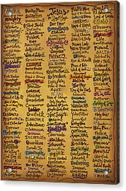 Names Of God - Inspirational Scripture Painting Acrylic Print by Annie Laurie