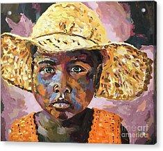 Madagascar Farm Girl Acrylic Print