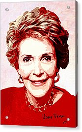 Nancy Reagan Portrait Acrylic Print