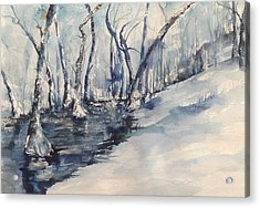 Nancy's Creek Winter Of 2012 Acrylic Print by Robin Miller-Bookhout