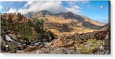 Nant Ffrancon Pass Snowdonia  Acrylic Print by Adrian Evans