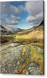 Nant Ffrancon Valley In Snowdonia Acrylic Print by Adrian Evans