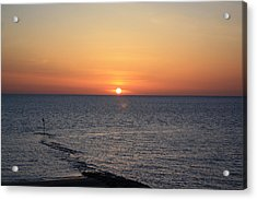 Acrylic Print featuring the photograph Nantasket Sunrise II Hdr by Greg DeBeck