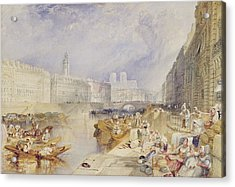 Nantes Acrylic Print by Joseph Mallord William Turner