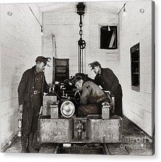 Nanticoke Pa Buttonwood Colliery Inman Shaft Glen Alden Coal Underground Motor Pit 1945 Acrylic Print