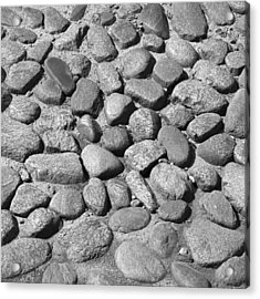 Nantucket Cobblestones Acrylic Print by Charles Harden