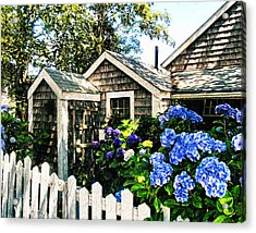 Nantucket Cottage No.1 Acrylic Print by Tammy Wetzel