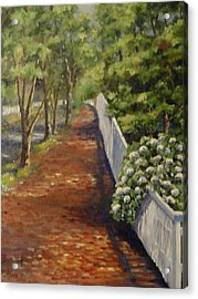 Nantucket Fence Number Three Acrylic Print by Andrea Birdsey Kelly
