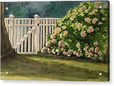 Nantucket Fence Number Two Acrylic Print by Andrea Birdsey Kelly