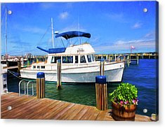 Nantucket Harbor Safe Harnor Series 52 Painted Acrylic Print