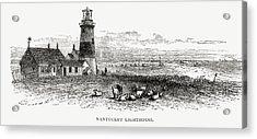 Nantucket Lighthouse, Massachusetts Acrylic Print by Vintage Design Pics