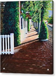 Nantucket Storefronts Acrylic Print by Michael McGrath