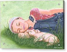 Nap Time Together Acrylic Print
