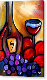 Napa Mix - Abstract Wine Art By Fidostudio Acrylic Print by Tom Fedro - Fidostudio