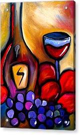 Napa Mix - Abstract Wine Art By Fidostudio Acrylic Print by Tom Fedro - Fidostudio