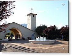 Napa Valley Winery . 7d9027 Acrylic Print by Wingsdomain Art and Photography