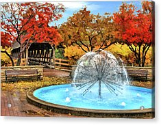 Acrylic Print featuring the painting Naperville Dandelion Fountain by Christopher Arndt