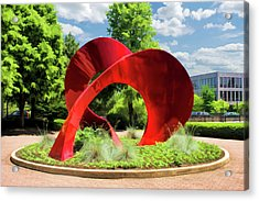 Acrylic Print featuring the painting Naperville Landforms Sculpture by Christopher Arndt