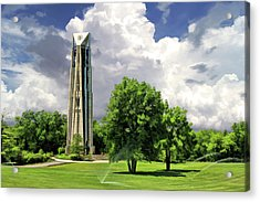 Acrylic Print featuring the painting Naperville Millennium Carillon by Christopher Arndt