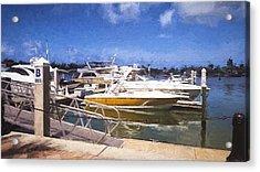 Naples Dock Acrylic Print