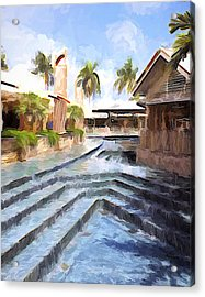 Naples Falls Shopping  Acrylic Print