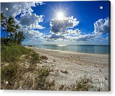 Acrylic Print featuring the photograph Naples, Florida Beach by Hans- Juergen Leschmann