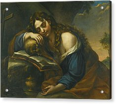 Naples Mary Magdalene Sleeping Acrylic Print by MotionAge Designs