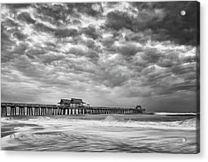 Acrylic Print featuring the photograph Naples Monochrome by Mike Lang