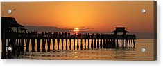 Naples Pier At Sunset Acrylic Print