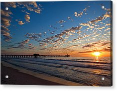 Naples Pier Days End. Acrylic Print by Nick  Shirghio