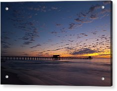Naples Pier Magic Hour Acrylic Print
