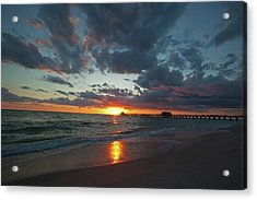 Naples Pier Sunset  Acrylic Print