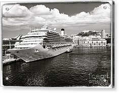 Naples Vintage Old Card Acrylic Print