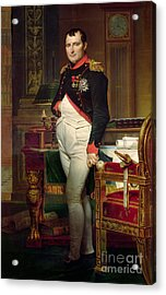Napoleon Bonaparte In His Study At The Tuileries, 1812 Acrylic Print by Jacques Louis David