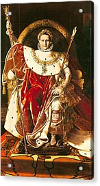 Napoleon I On The Imperial Throne Acrylic Print by Ingres