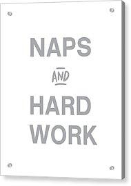 Naps And Hard Work- Art By Linda Woods Acrylic Print