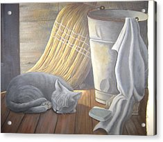 Naptime Acrylic Print by Judy Keefer