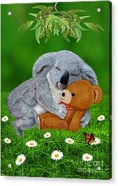 Naptime With Teddy Bear Acrylic Print by Glenn Holbrook