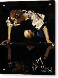 Narcissus Acrylic Print by Caravaggio