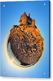 Narraganset Towers 2- Planet Acrylic Print by Christopher Blake