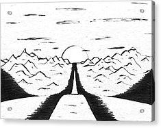 Narrow Gate Acrylic Print by Adam Wells