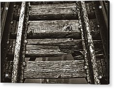 Narrow Gauge Tracks #photography #art #trains Acrylic Print