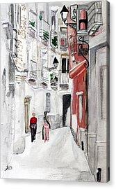 Narrow Street Acrylic Print by Cathy Jourdan