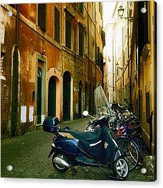 narrow streets in Rome Acrylic Print